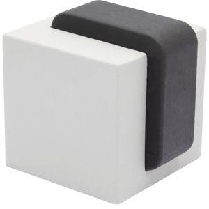 WAGNER Türstopper BETON CUBE MEDIUM - 40 x 40 x 45 mm, aus Beton grau, Kautschuk schwarz, inkl. Montagematerial - 15518611