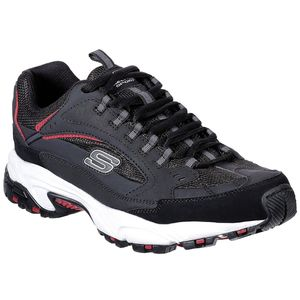 SKECHERS 51286/BKRD Stamina-Cutback Herren Sneaker schwarz/weiß/rot, Größe:43, Farbe:Schwarz