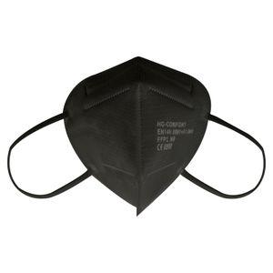 FFP2 Maske Schwarz 25 Stück Maske CE 0598 Einzelnverpackung Atemschutzmaske 5 Lagige Staubschutzmaske Mundschutzmaske