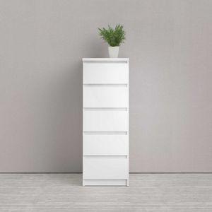 Kommode NAIA Anrichte Sideboard Weiß Hochglanz