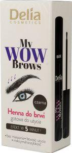 Delia Delia Cosmetics My Wow Brows Augenbrauen Henna - schwarz 6ml