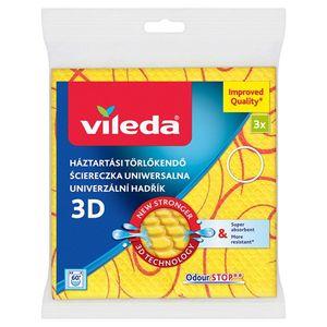 Universalles Vileda Stabtuch mit Silberionen  gelb 34x34 cm 3 Stück im Pack