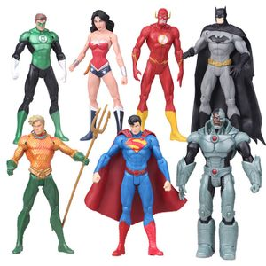 7pcs DC Superheld Hulk Iron Man Superman Wunderfrau Figur Spielzeug