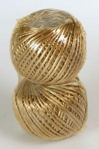 60 m Bindfaden 2 Rollen je 30 m 1 mm goldhaselnuss glänzend
