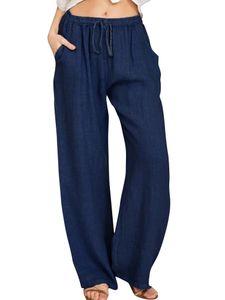 Sexydance Women'S Casual Joggers Sweatpants Loose Yoga Dance Pants Harem Trousers Pockets,Farbe: Blau ,Größe:3XL