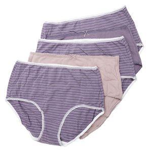 karpal Damen Slip Baumwolle Mittiger Hoher Bund Stretch Unterhose (5er Pack)