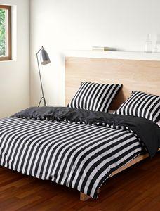 Marc O'Polo Bettwäsche Classic Stripe black   , GRÖßENAUSWAHL:200x200 cm + 2x 80x80 cm