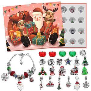 24 Tage weihnachten Advent kalender DIY Armband 2021 Weihnachten countdown Weihnachtskalender