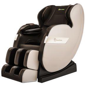 ASUKALE Ganzkörper Zero Gravity  Massagesessel mit Fußmassage, HiFi-Music, Wärmefunktion, Automatikprogramme,Braun