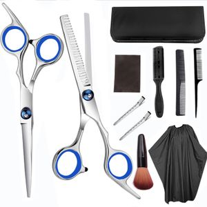 Haarschere Set, Premium Scharfe Friseurscheren, Haarschneideschere Licht Einseitiger Effilierer, Effilierschere - Profi Friseur Schere Haare Perfekter Friseurschere Haarschnitt Frisörschere