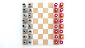 Remember SCHACH Spiel Holz mit 32 Spielfiguren