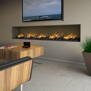 muenkel design wall fire electronic [Opti-myst heat Elektrokamineinsatz Wandeinbau]: 600 mm - 2.000 Watt Heizleistung