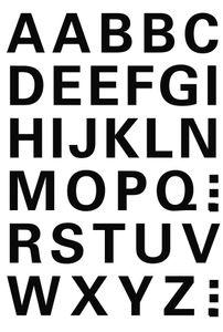 HERMA Buchstaben Sticker A-Z Folie schwarz 15 mm hoch 1 Blatt à 36 Sticker