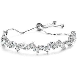 Mllaid  Verstellbares Tennis-Armband Cubic Zirkonia-Schmuck Damen Geschenk