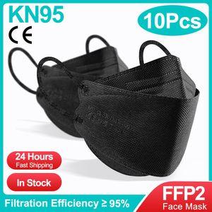 10 STÜCKE Kn95 Fischform Mascarillas FFP2  Maske Erwachsene Sicherheitsschutz Atemschutzmaske fpp2 Masken Filter Gesichtsmaske FFP2Mask