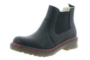 Rieker Damen Chelsea Boots Warmfutter Stiefeletten 76264-02, Größe:38 EU, Farbe:Schwarz