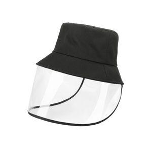Anti-Spitting-Schutzhut Volltransparenter Gesichtsschutzhut Anti-Staub-Sonnentroepfchen Kuechendampf-Augenschutzhut Breite Krempe