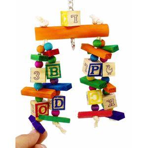 Papagei Vogel Biss Spielzeug Bunte Building Block Beißen String