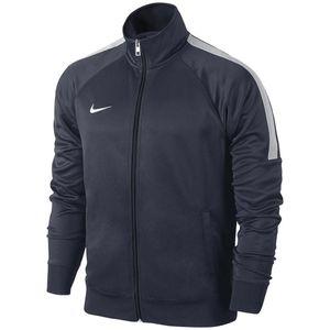 NIKE Club Trainer Jacke Unisex Junior Kinder Sportjacke blau, Bekleidung:152