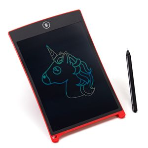 digitCUBE LCD Schreibtafel - Writing Tablet bunt digital Pad - Magic Board löschbar für Kinder - Malen Geschenk Rot