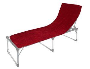 Floringo Schonbezug für Sonnenliege Gartenliege 70x200 Twin-Star 95° waschbar-rubinrot
