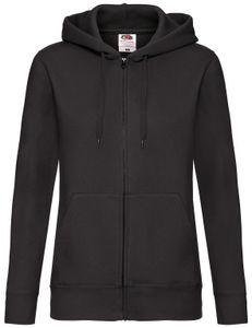 Fruit of the Loom Premium Hooded Sweat Jacket Lady-Fit, Farbe:schwarz, Größe:S