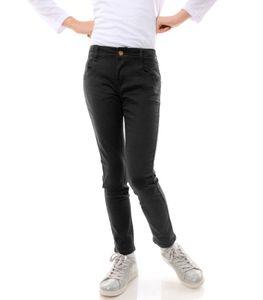 GP Creation Mädchen Jeans Hose mit verstellbaren Bund Schwarz 116