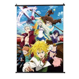 The Seven Deadly Sins Poster, Anime Rollbild Wallscroll Dekorative Wandbild Stoff Painting Hängendes Plakat --S
