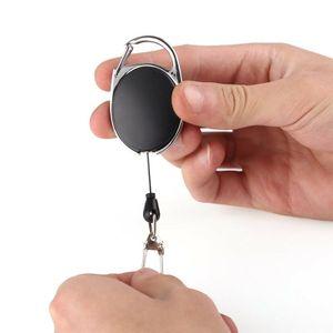 Schlüsselring Ausweis Halter ausziehbarer Jojo ausziehbar Karabiner Werksausweis