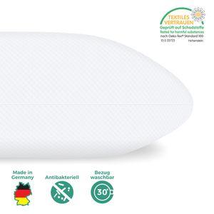 Orthopädisches Nackenkissen - perfekt geeignet für Bauchschläfer, Rückenschläfer und Seitenschläfer - 40 x 80 cm