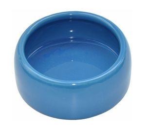 Keramik Fressnapf für Kleintiere  Motiv – blau