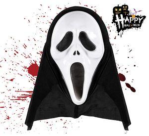 1x Halloween Gruselige schwarz Zombie Maske Scream