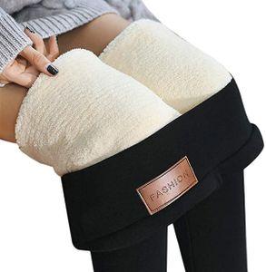 ASKSA Damen Warme Thermo Leggings Verdicken mit Plüsch Gefüttert Slim Lange Leggings Elastische Winter Strumpfhose Hosen -M-