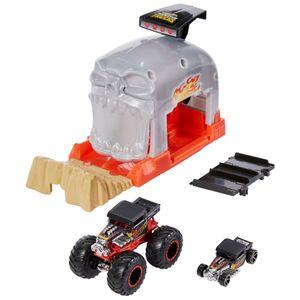 "Hot Wheels Monster Trucks ""Bone Shaker"" Startrampe Spielset inkl. 2 Spielzeugautos"
