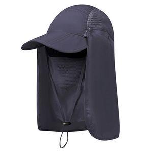 Dunkelgrau Sonnenschutz Fischerhut Angelhut Outdoor Radfahren Sonnenblende UV-Schutz Hut Mütze Cap