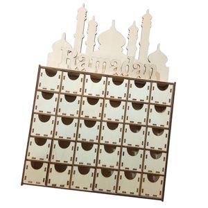 Ramadan Eid Kommode Mubarak Decor Muslim Islam Party Supply Handwerk DIY Schubladenschrank