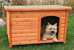 Hundehütte mit Flachdach TRIXIE Größe M 85x58x60cm
