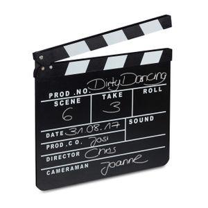 relaxdays Filmklappe schwarz
