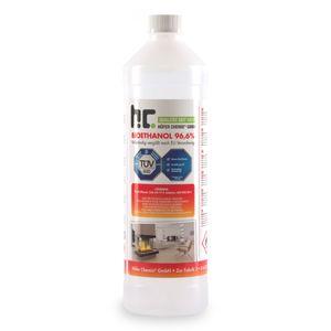 1 x 1 Liter Bioethanol 96,6% Premium für Ethanol-Tischkamin in Flaschen
