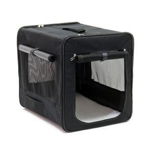 Transportbox M faltbar 58x46x53 cm cm Hundebox Katzenbox Reisebox Autobox