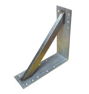 Edelstahl Winkel 300x300x100mm verstärkt Schwerlast Bauwinkel Befestigung Halter