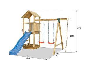 Kinder Spielturm mit Rutsche und Schaukel