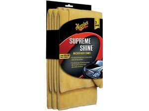 Meguiar's Supreme Shine Microfiber-Tuch 3er-Pack, Größe L 40 x 60 cm