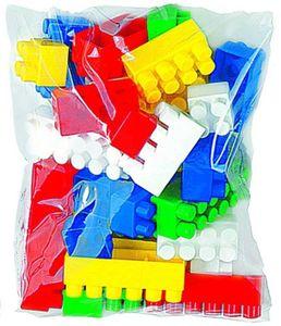 Polesie 0323 Bausteine, 32 bunte Bausteine im Beutel verpackt, ab 12 Monate