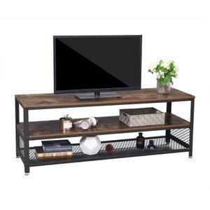 VASAGLE TV Lowboard mit Metallrahmen | 140 x 40 x 52 cm | TV-Schrank mit 2 Ablagen | Fernsehtisch Vintage LTV50BX