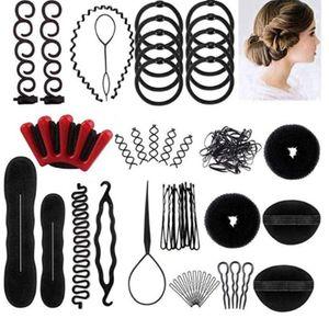 39-tlg Haar Styling Zubehör Tools Kit Hair Makeup Tool Kits Haare Frisuren Set