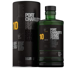 Bruichladdich Port Charlotte 10 Jahre Heavily Peated Islay Single Malt Scotch Whisky in Geschenkpackung | 50 % vol | 0,7 l
