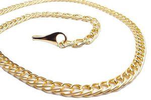 Damen Gürtel Kettengürtel Damengürtel Schmuck-Gürtel Design Gold  Gold