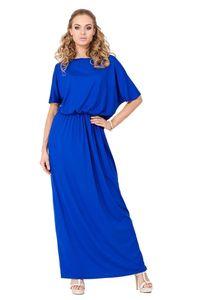 Maxi-Kleid Lang Strandkleid, Blau S/M 36/38