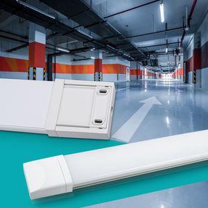 Ultraslim LED Feuchtraumleuchte IP65 Nassraumleuchte Deckenleuchte Wannenleuchte Tageslicht 60cm 18W